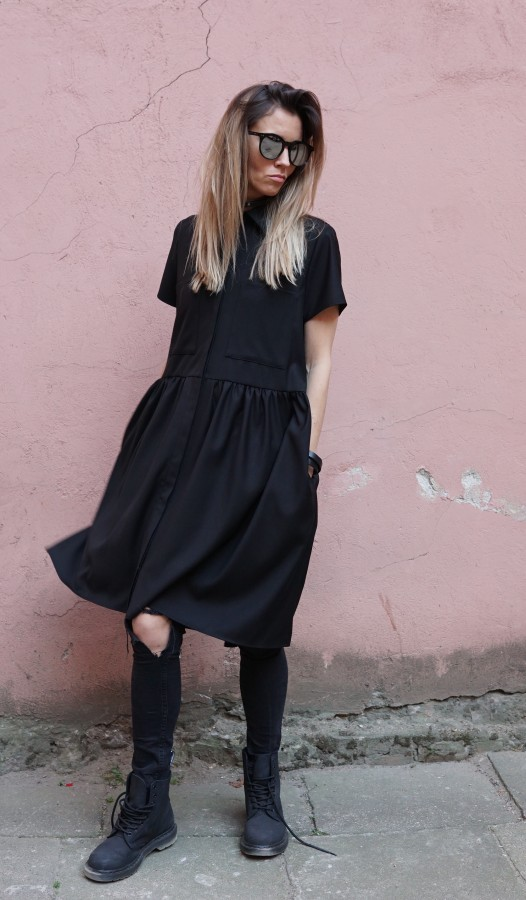 black dress with pockets