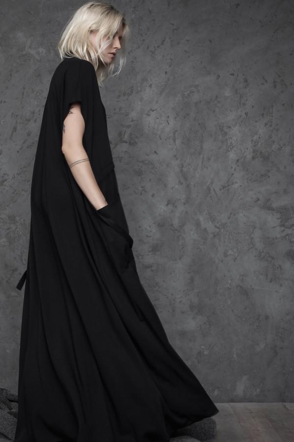 long viscose dress