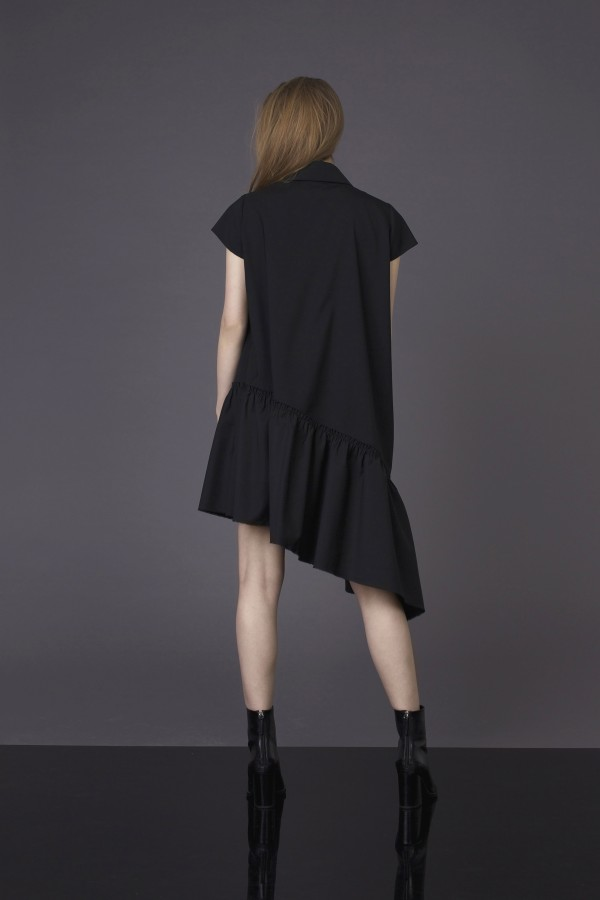 asymmetric cutting dress