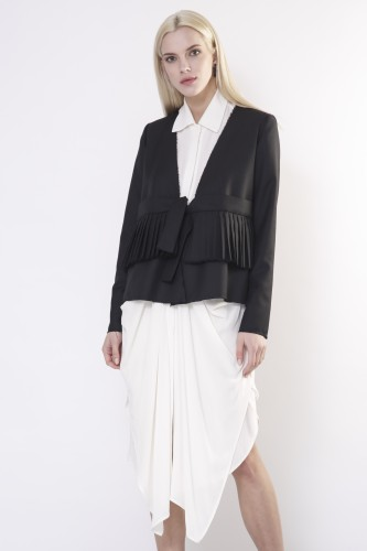 jacket with pleats