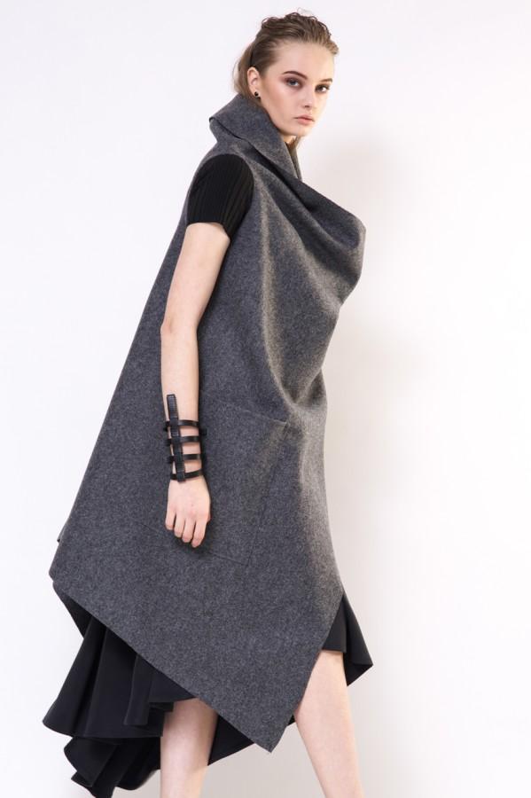 Gray woolen waistcoat