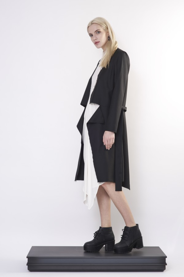 raw black coat