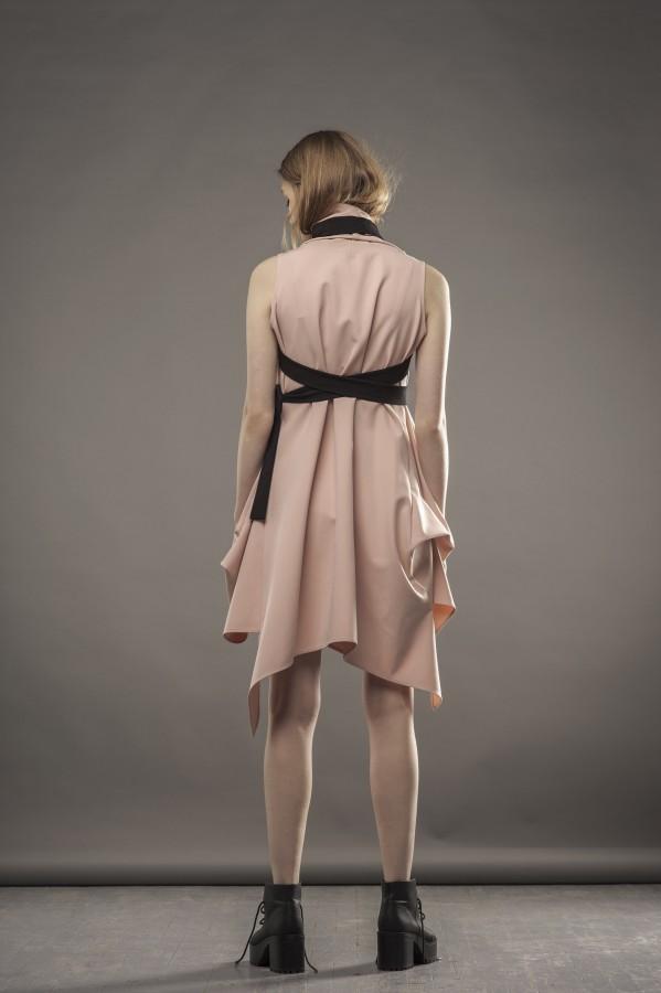 Dusty pink draped dress