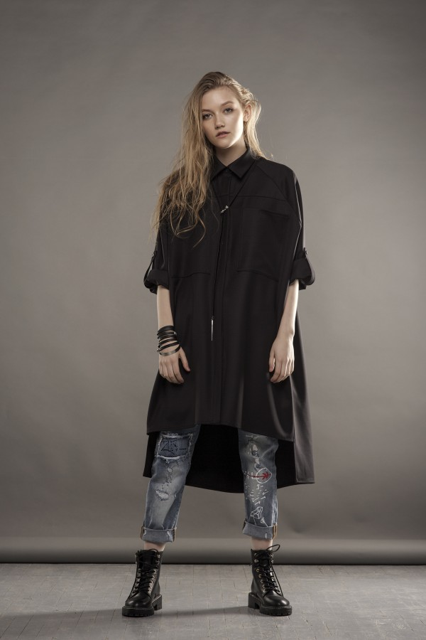 new long black shirt
