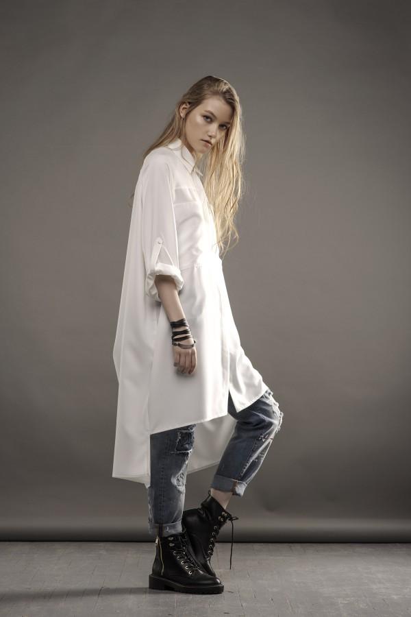 new long white shirt