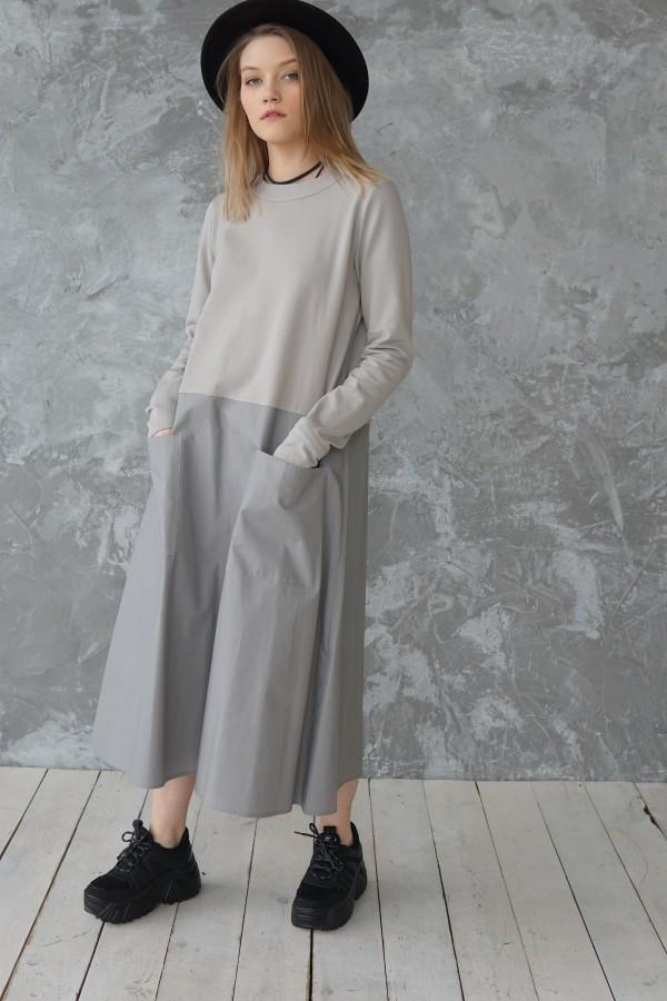 gray dress madrid