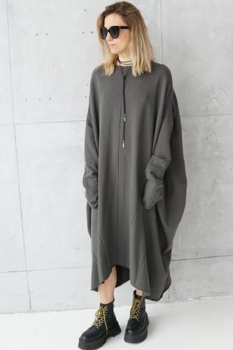 dress with decorative seams