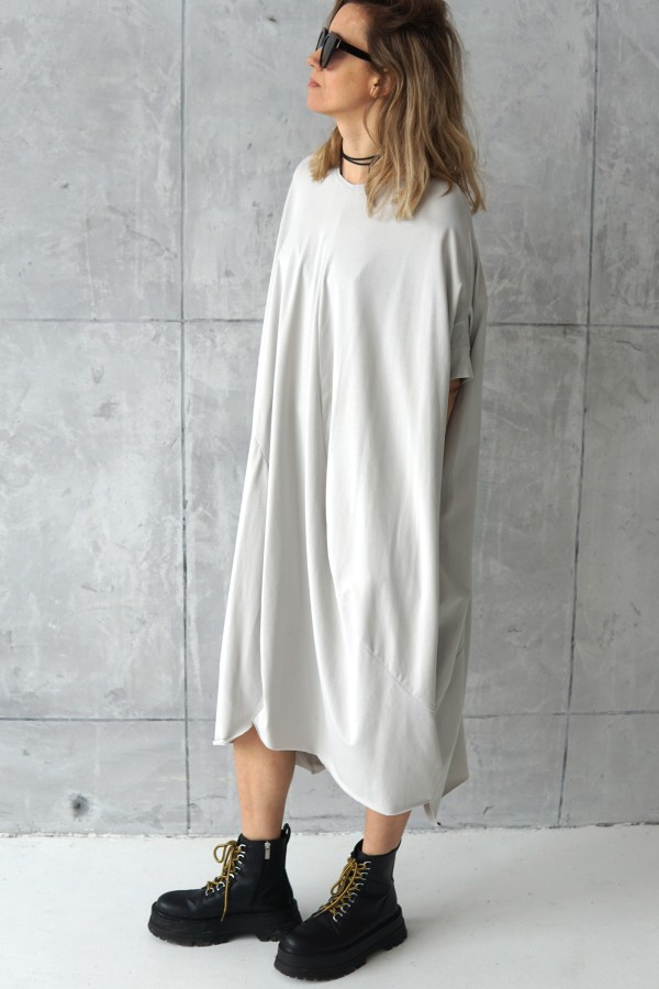 3D DRESS WITH SHORT SLEEVES