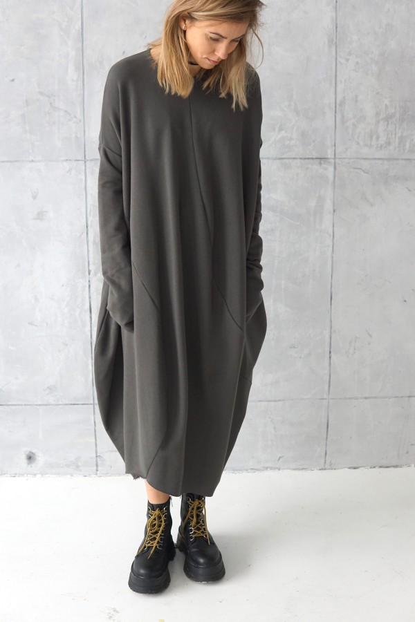 3D dark gray dress