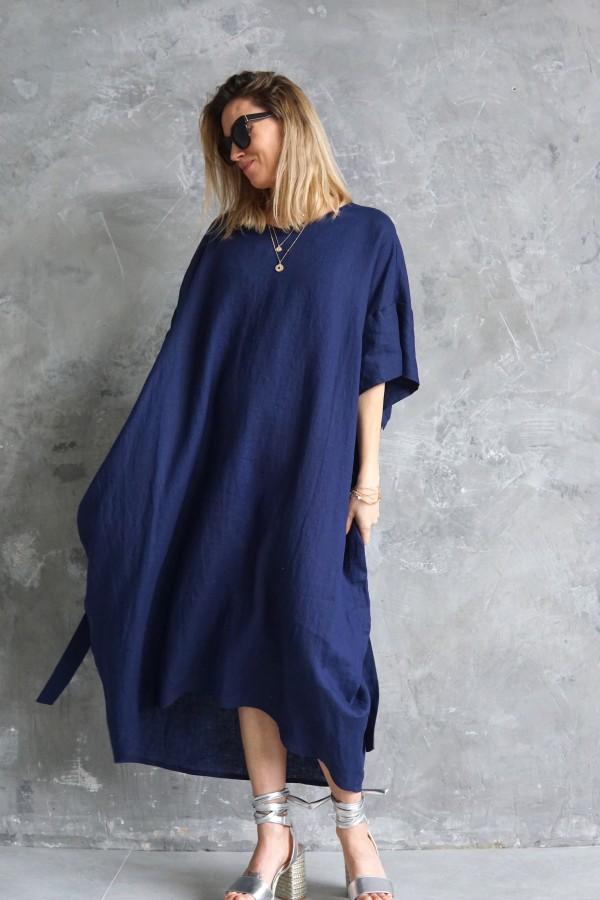 LINEN BLUE DRESS TALLINN