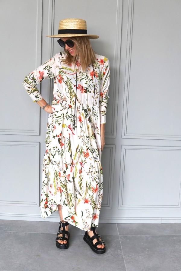 creamy floral dress 2