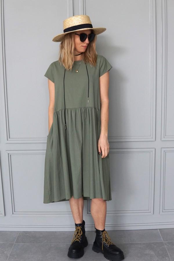 SIMPLE LINEN DRESS