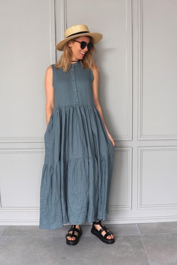 linen dress vanagupe