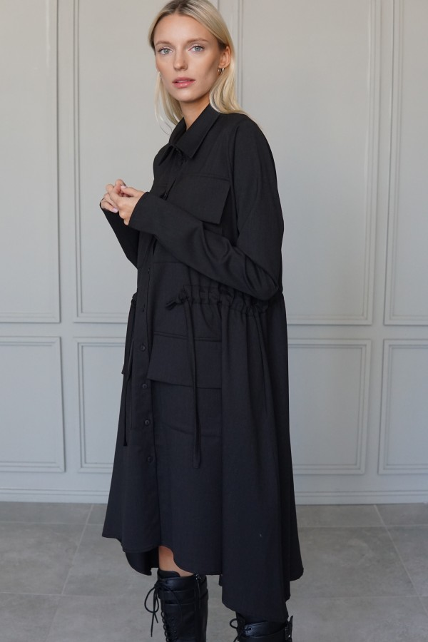 DARK GRAY DRESS MADISON