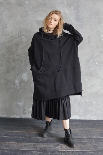 black dress-sweatshirt