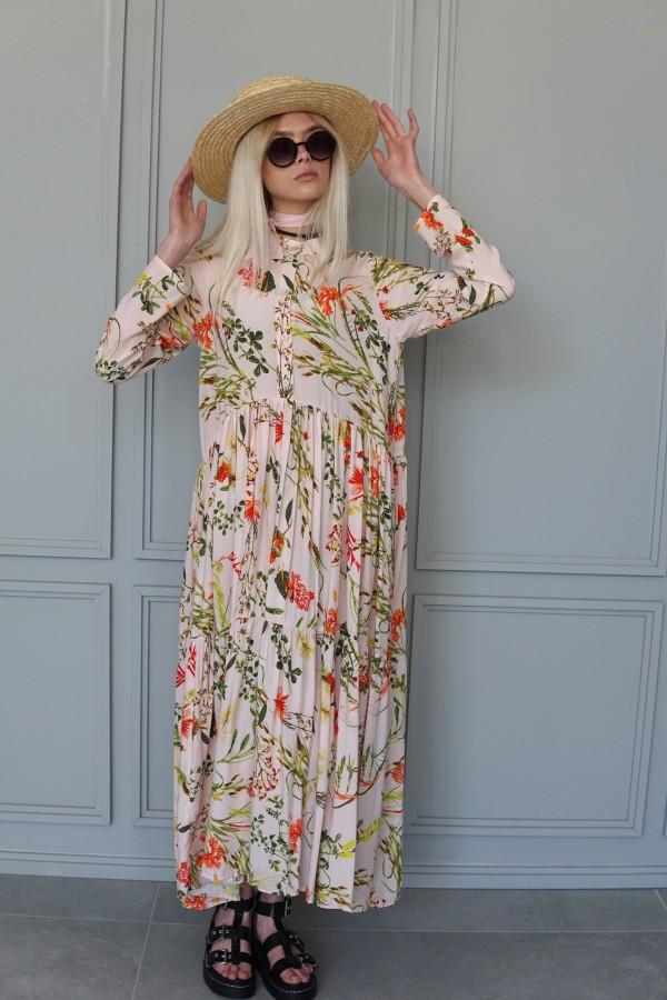FLOWERY PINK DRESS