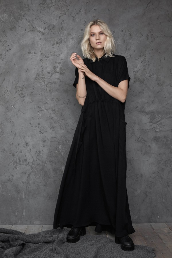 long viscose dress