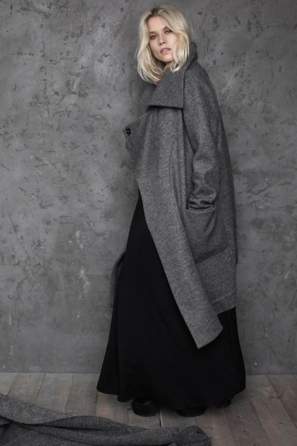 new gray coat-sweater