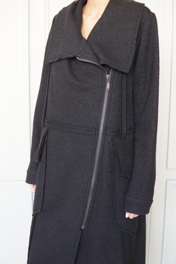 coat with decorative details