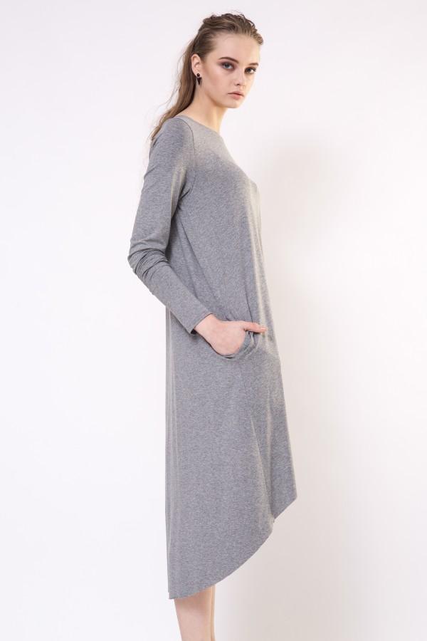 gray casual dress