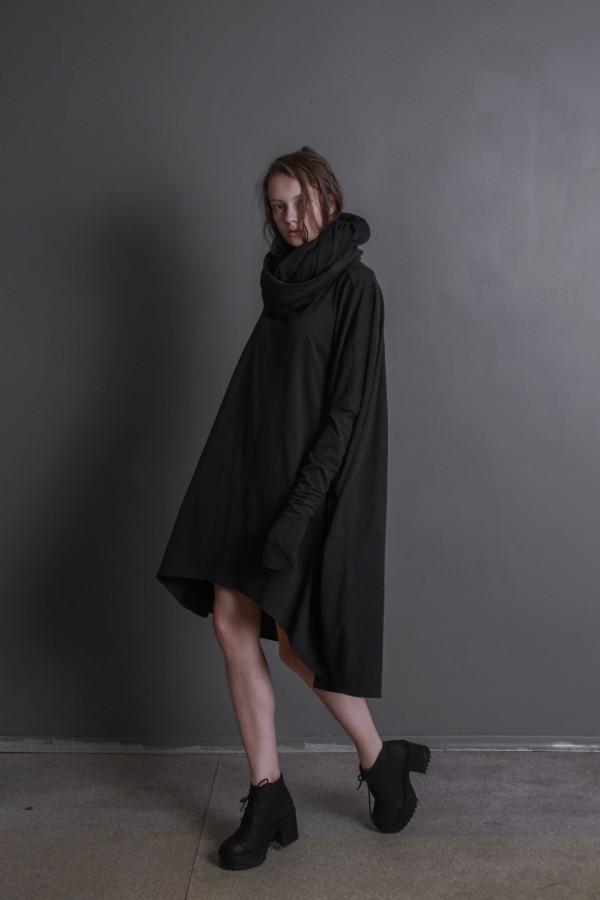 DARK GRAY COTTON DRESS
