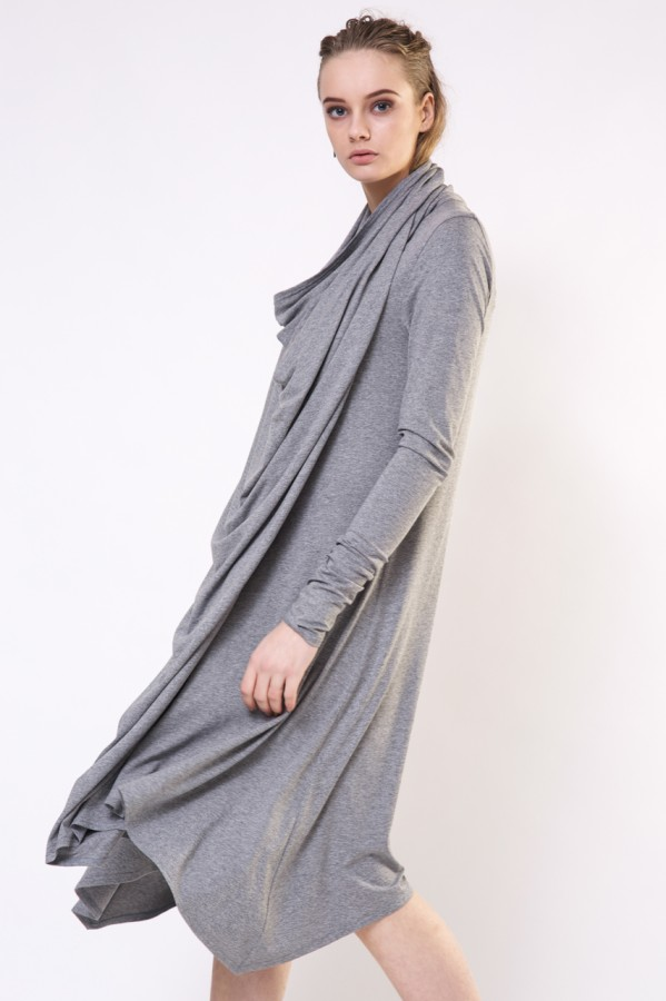 Gray draped dress