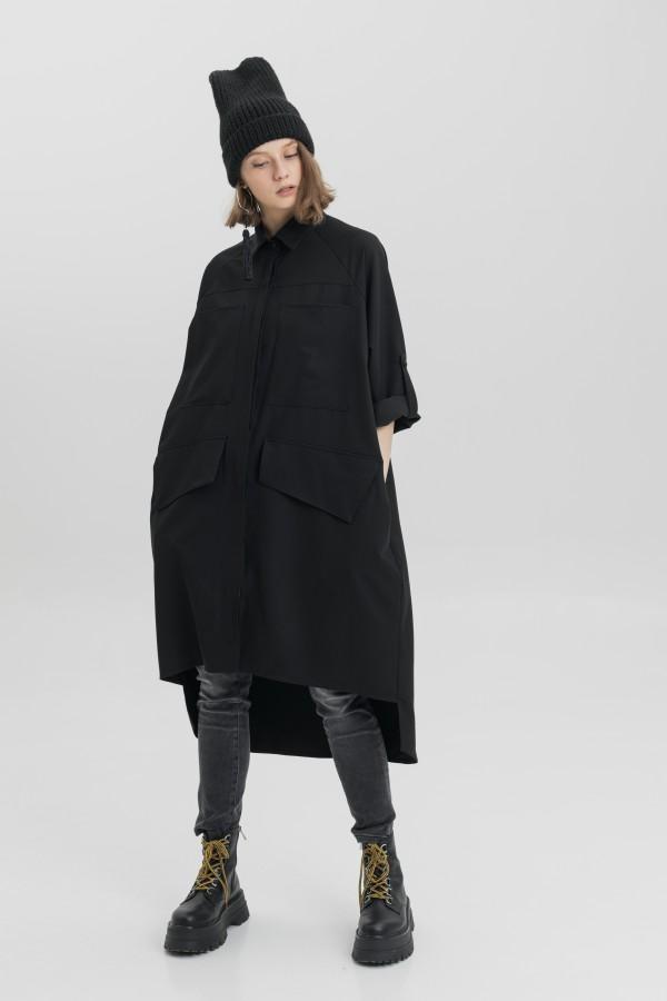 oversized black shirt