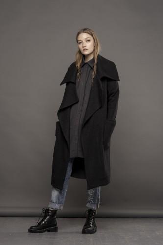 new black coat-sweater