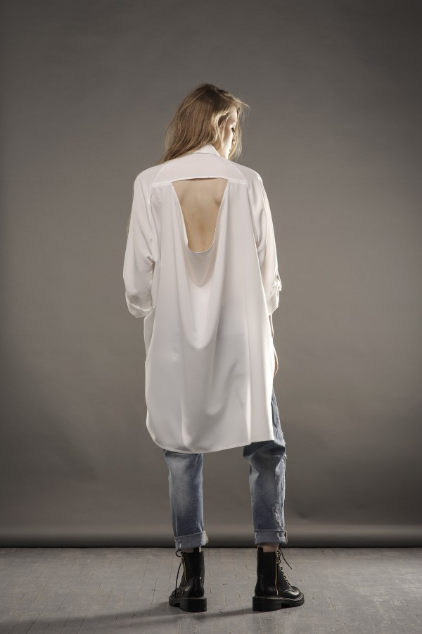 new white shirt with detail on back